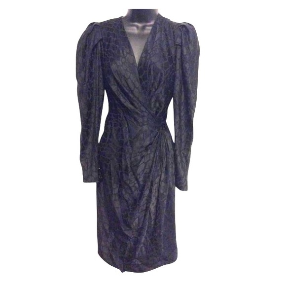 Andrea Odicini Dresses & Skirts - Andrea Odicini Vintage Black Silk Dress